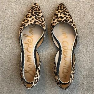 Sam Edelman Leopard Print d'Orsay Flat